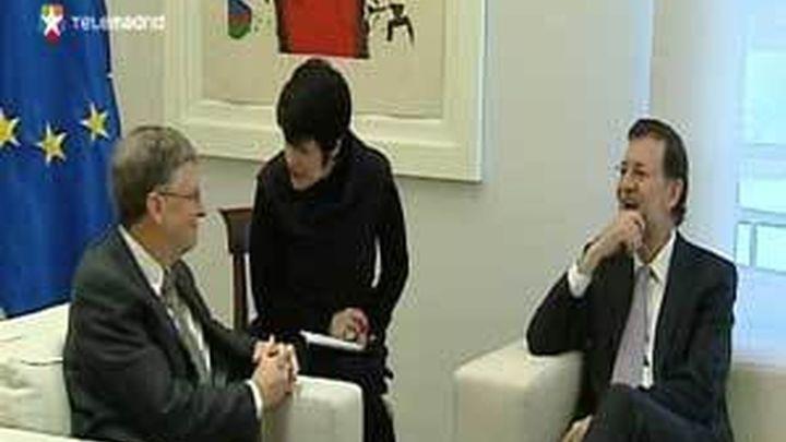 Rajoy traslada a Bill Gates el compromiso de España de seguir con la agenda del desarrollo