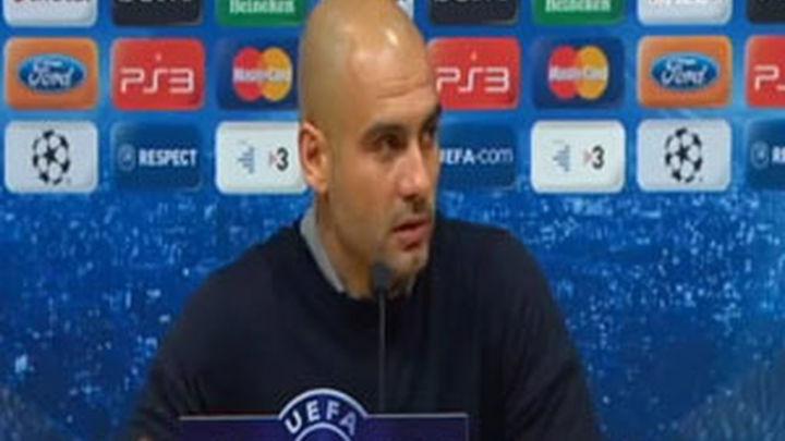 """Guardiola: """"Si el estamento arbitral  se siente ofendido pedimos disculpas"""""""