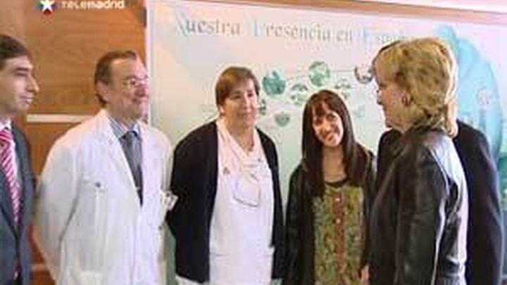 Aguirre visita el nuevo edificio del Centro Universitario San Rafael