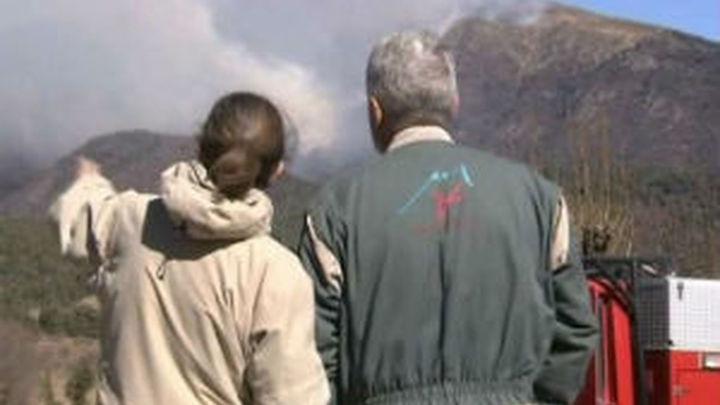 Calcinadas 1.500 hectáreas en cuatro incendios que afectan al Pirineo