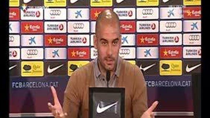 """Guardiola: """"Seis puntos son muchísimos, el Madrid no va a empatar cada día"""""""