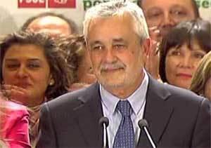 Griñán aboga por un gobierno estable y afirma que pondrá todo su empeño