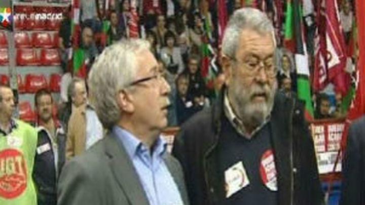 Toxo y Méndez confían en una participación masiva en la huelga general