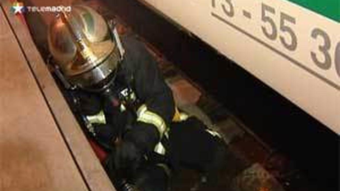Bomberos de la Comunidad participan en un simulacro en el túnel ferroviario de Guadarrama