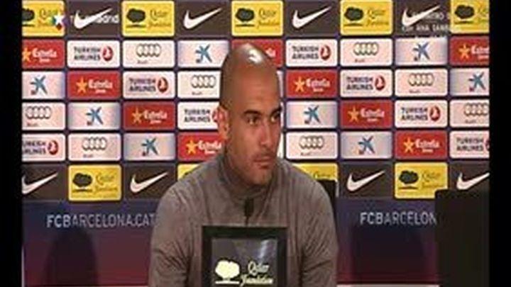 """Guardiola: """"Mis jugadores tienen que sonreír poco y correr más"""""""