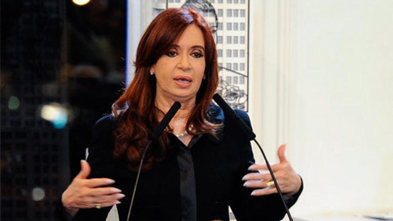 Cristina Fernández de Kirchner, en rueda de prensa