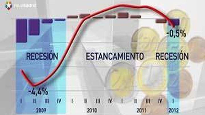 España  entra en recesión tras caer el 0,4 % entre enero y marzo