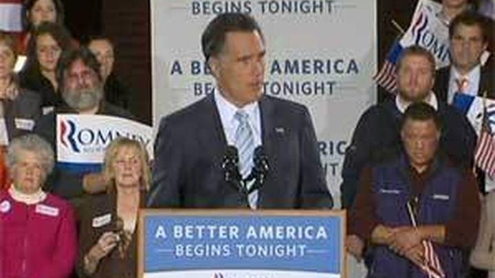 Obama y Romney empatarían hoy con un 47 % de los votos, según sondeo