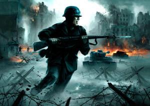 Ilustración alusiva a la guerra