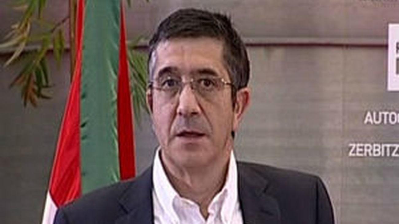El lehendakari, Patxi López, adelanta  las elecciones al 21 de octubre