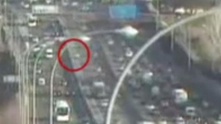 Telemadrid muestra las imágenes de un grave accidente ocurrido en febrero
