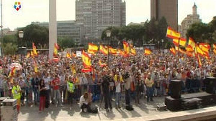 Telemadrid retransmite la concentración contra la sentencia de Estrasburgo