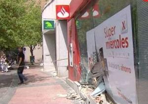 El disparo de un vigilante evita un robo por alunizaje en un banco de Alcalá