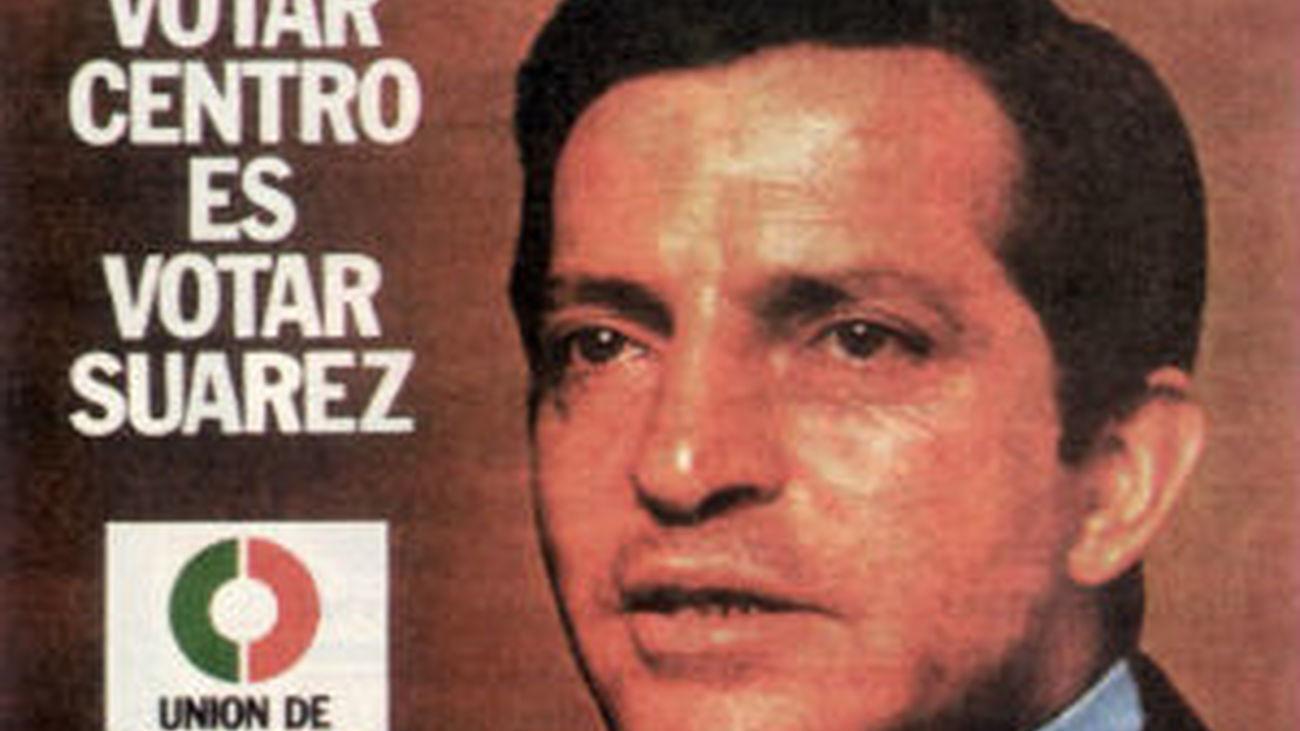Adolfo Suárez, cartel de la UCD de las Elecciones de 1977