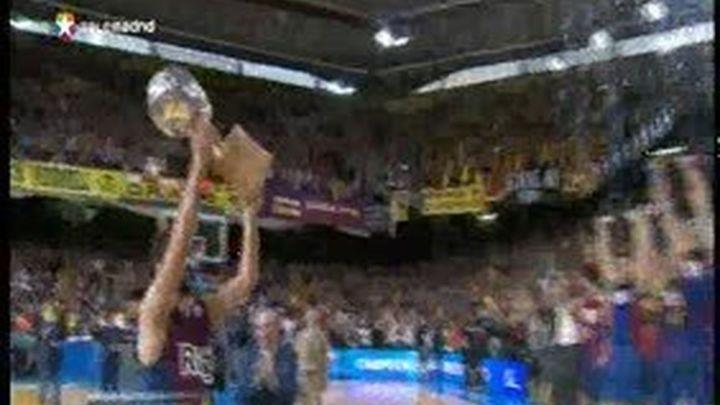 73-69. El Barça revalida el título de campeón de Liga
