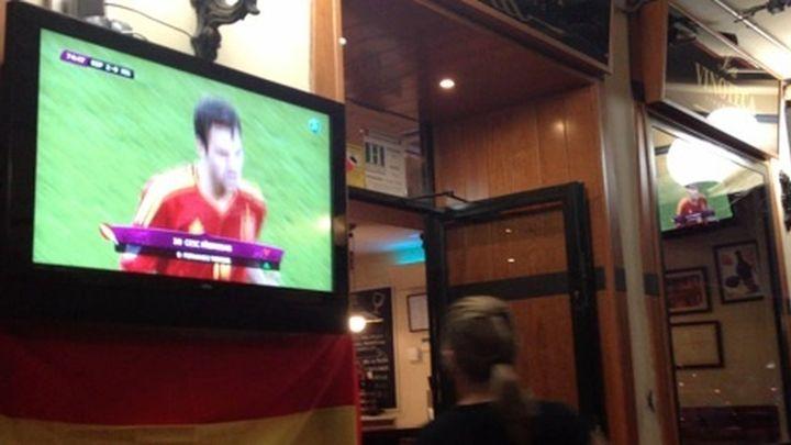 La victoria de España dispara un 40 % las ventas en los bares