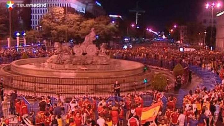 La celebración de la Eurocopa en Cibeles se salda con 114 asistencias leves