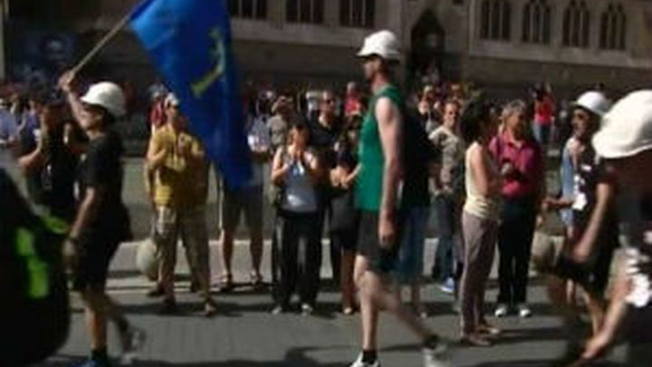 Detenido un miembro del 15M de Alcalá Henares por incidentes en marcha minera