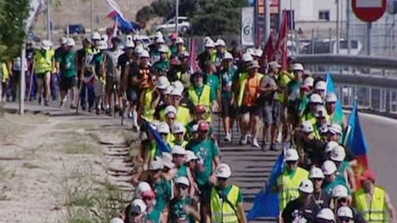 La marcha minera ya está en Madrid