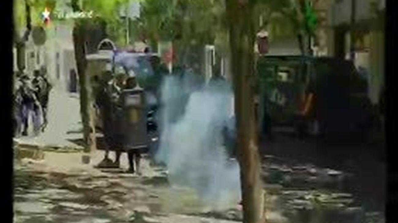 La Marcha Minera acaba con cinco detenidos y 76 heridos leves