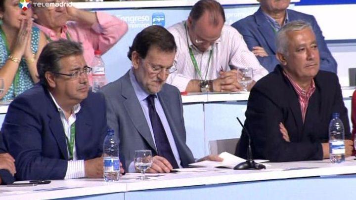 Rajoy: El Gobierno trabaja para los que aplauden, callan e incluso protestan