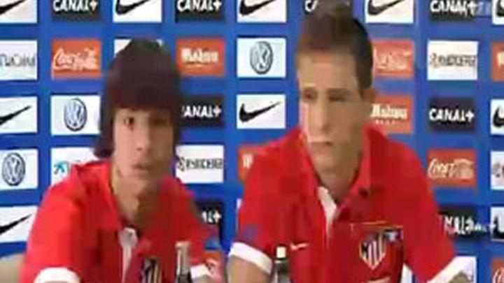 Los campeones Oliver y Saúl hacen la pretemporada con el Atlético