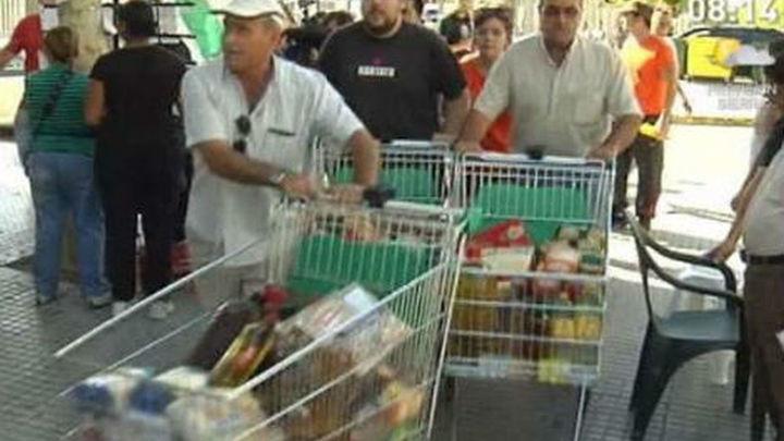 Libertad con cargos para los dos sindicalistas del SAT detenidos por asalto a supermercados