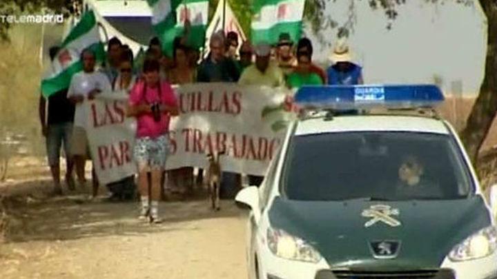 La Guardia Civil desaloja la finca ocupada por el Sindicato Andaluz de los Trabajadores