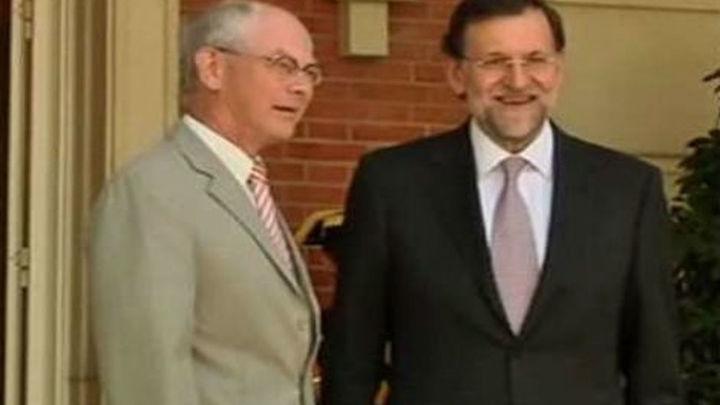 Rajoy defenderá ante Van Rompuy pasos rápidos hacia la unión bancaria y fiscal