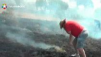 Un cámara de Telemadrid grabó las primeras imágenes del incendio de 2012