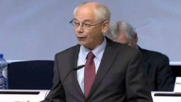Van Rompuy elogia las reformas en España e Italia  y apoya la intervención del BCE