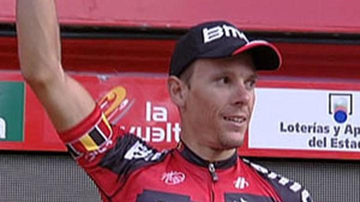 El belga Gilbert hace doblete, Contador sigue líder