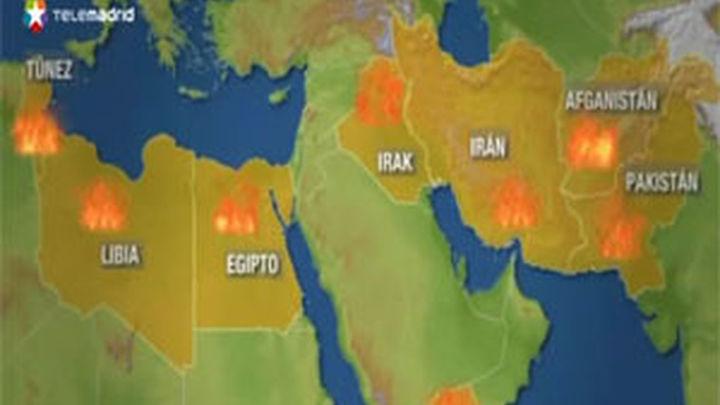 Aumentan a 224 los heridos en choques cerca de la embajada de EEUU en El Cairo