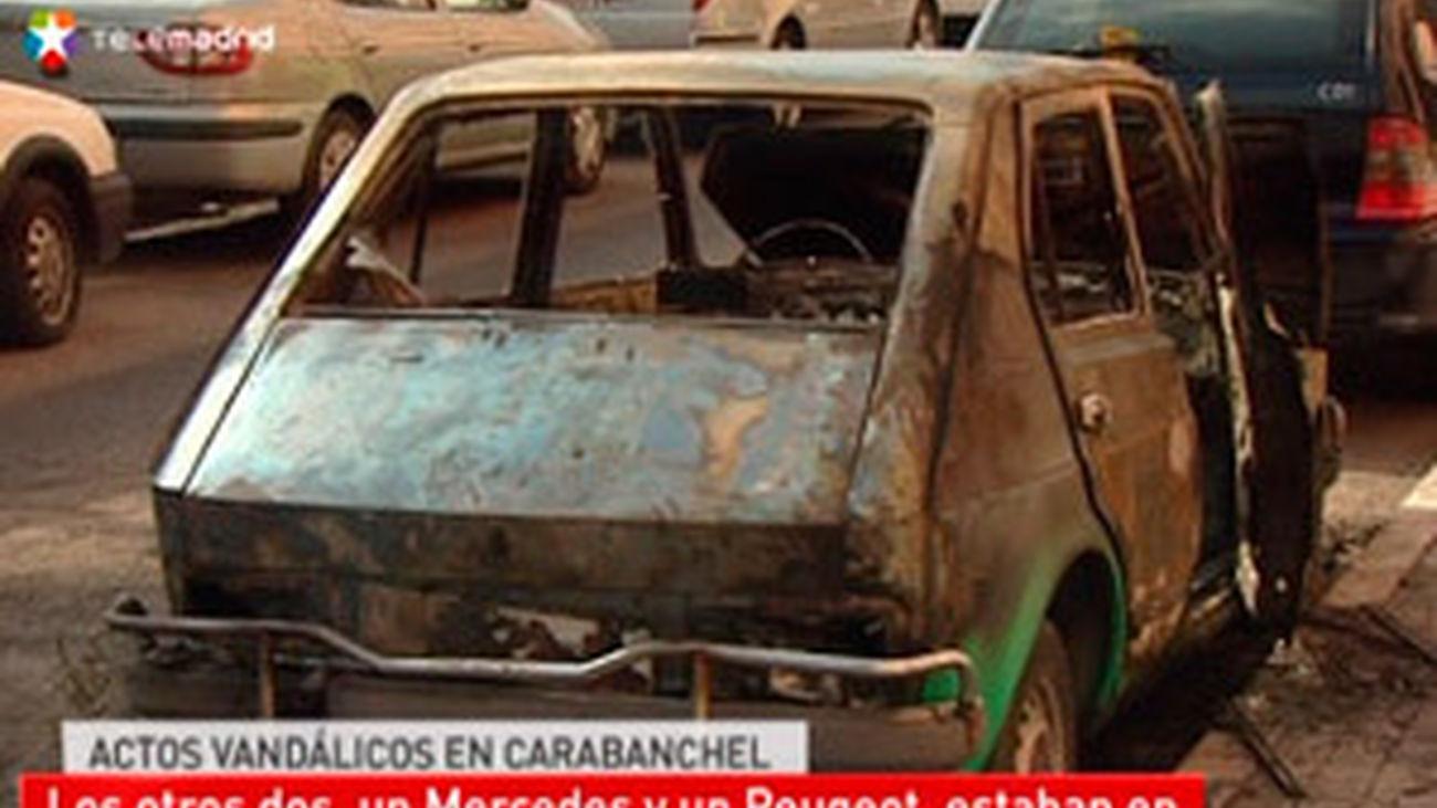 Incendian tres coches en Carabanchel