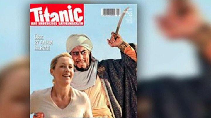 Una revista satírica alemana anuncia una portada con una caricatura de Mahoma