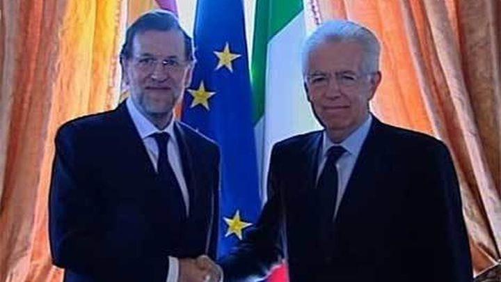 Rajoy y Monti estrechan su cooperación contra la crisis de la zona euro