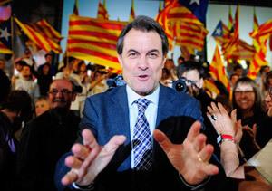 El presidente de la Generalitat de Cataluña, Artur Mas