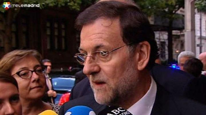 """Rajoy: """"Plantear la reforma de la financiación es plantear el reparto de lo que no hay"""""""