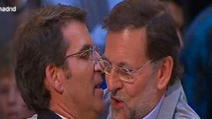 """Rajoy dice que votar por Feijóo es hacerlo por """"la unidad"""" de los españoles"""