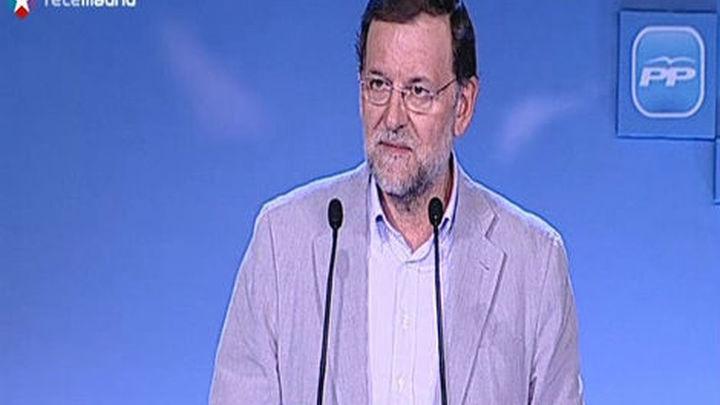 """Rajoy: """"Fuera de España y de Europa"""" se está """"condenado a la nada"""""""