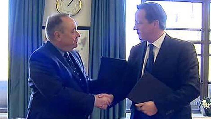Reino Unido y Escocia firman el acuerdo sobre el referéndum de independencia