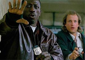 Wesley Snipes y Woody Harrelson, en 'Asalto al tren del dinero'
