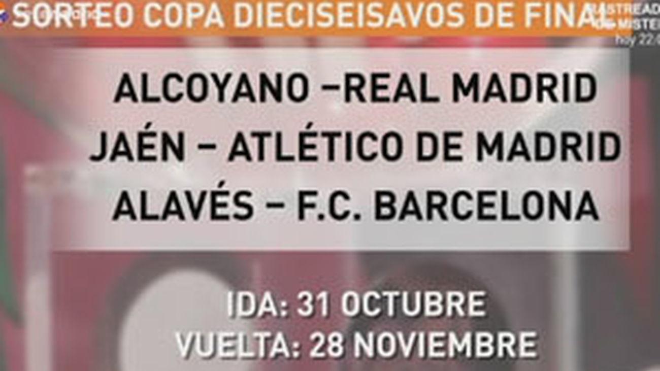 Alcoyano-Real Madrid y Jaen-Atlético, en dieciseisavos de Copa del Rey