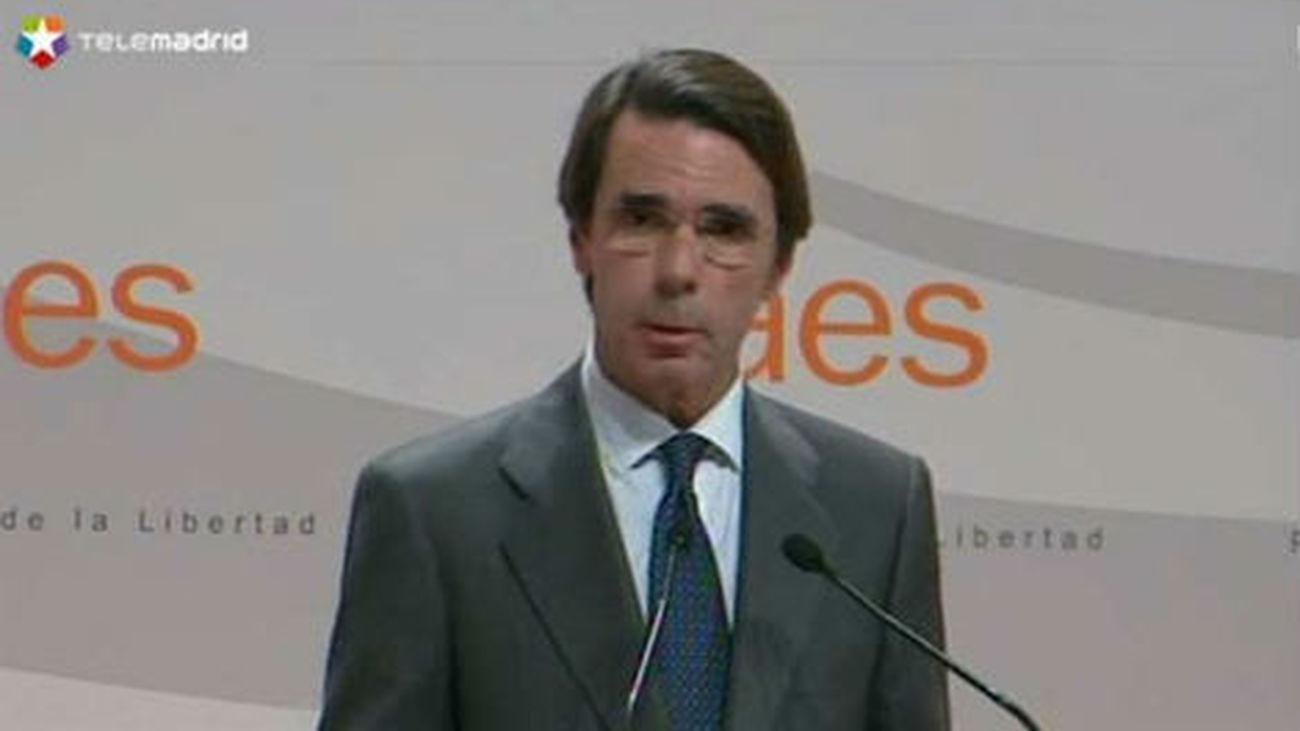 Aznar avisa de que España sólo se puede romper si antes se rompe Cataluña