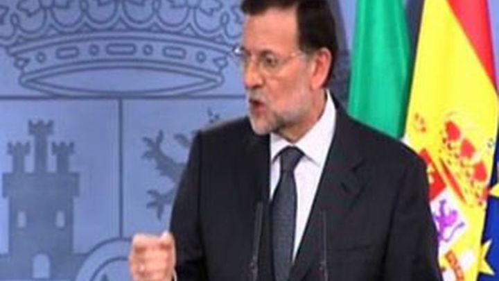 """Rajoy dice que en este momento """"no es imprescindible pedir el rescate"""""""