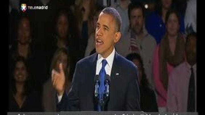 """Obama, reelegido: """"Lo mejor está por llegar"""""""