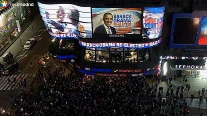 Los demócratas celebran la victoria de Obama tras lo incierto de las encuestas