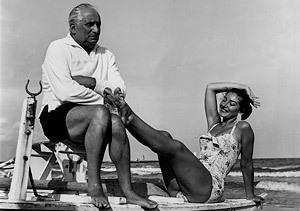 María Callas con su marido Giovanni Meneghini