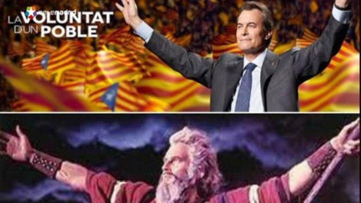 Los internautas se mofan de la actitud mesiánica de Artur Mas