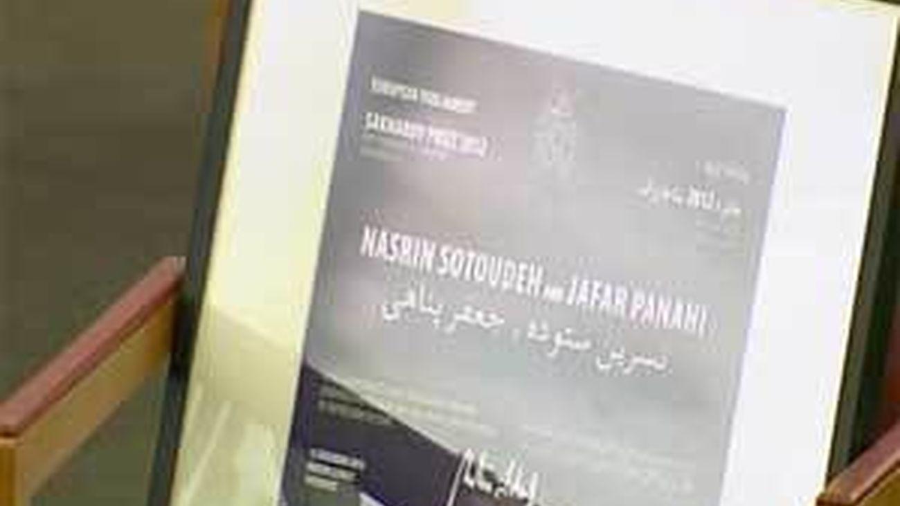 La Eurocámara entrega, en ausencia, el premio Sájarov a dos activistas iraníes presos